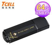 【TCELL 冠元】USB3.1 64GB 4K EVO 璀璨黑金隨身碟