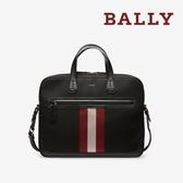【台中米蘭站】全新品 BALLY 防潑水帆布商務手提斜背公事包 (6220461-黑)