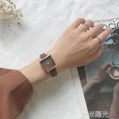 chic北歐小眾手錶女簡約氣質方形小錶盤 ins風網紅復古文藝學院風 中秋節全館免運