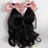 兒童髮髻 正韓寶寶頭飾髮飾飾品 可愛兒童蝴蝶結髮夾馬尾假髮卷髮 好康免運