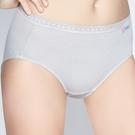 思薇爾-柔感棉系列素面中腰三角褲(塵霧灰)