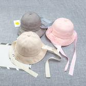 萬聖節大促銷 春新款韓版兒童漁夫帽個性長飄帶盆帽男女童潮款休閒遮陽防曬帽子