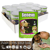 英國Benevo貓狗罐頭12罐/箱_頂級素食寵物食品 含植物源牛磺酸 全素營養點心 低過敏配方犬貓罐頭