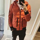 夾克外套-連帽韓版時尚秋冬保暖夾棉男外套3色73qa18[時尚巴黎]