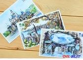 百姓館 手繪 明信片 旅游 風景明信片 紀念 賀卡10張