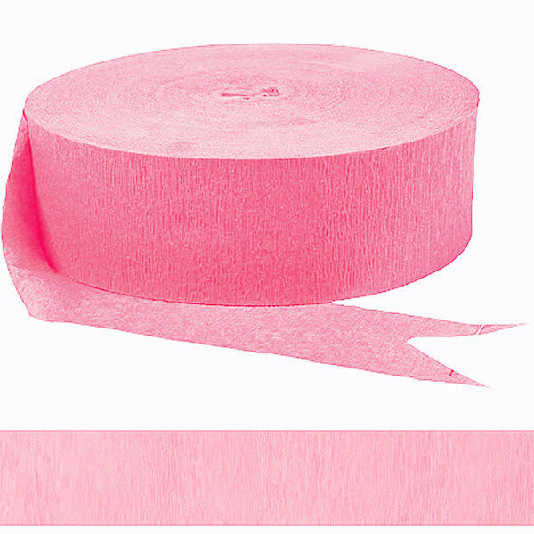 皺紋紙彩帶-甜心粉