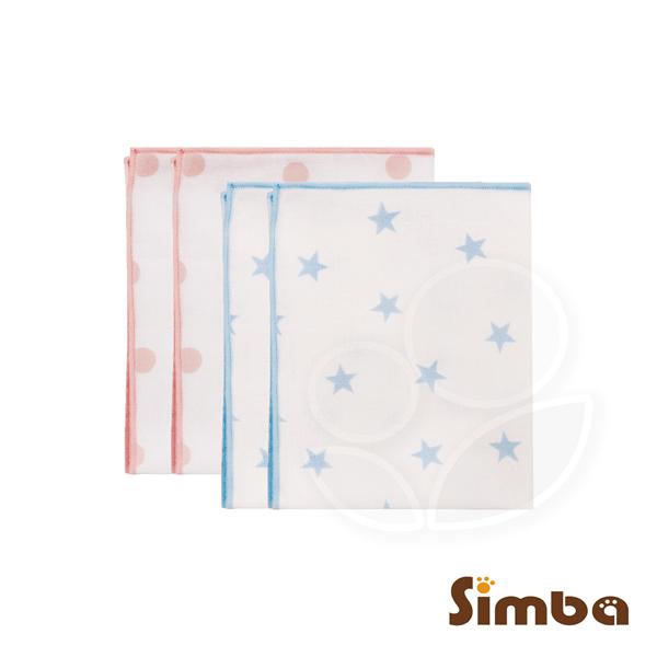 Simba 小獅王辛巴 極柔感印花紗布澡巾(2入)-好自藍/點粉粉【佳兒園婦幼館】