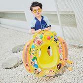 【新年鉅惠】兒童方向盤游泳圈 充氣座圈浮圈嬰幼兒坐艇