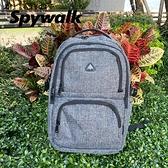 SPYWALK 灰色簡約多功能大型後背包 NO:S9186