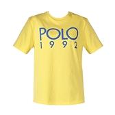 【南紡購物中心】Ralph Lauren POLO膠字圓領短袖T恤-黃