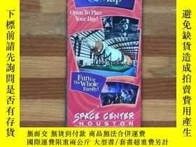 二手書博民逛書店NASA美國宇航局Space罕見Center Houston地圖及參觀導覽(英文版,雙面內容)Y358478