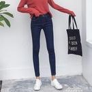 加絨牛仔褲女高腰冬季新款帶絨加厚保暖外穿緊身小腳褲長褲子 交換禮物