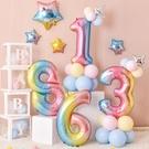 周歲寶寶主題馬卡龍氣球兒童生日裝飾場景布置派對數字立柱背景牆 設計師生活