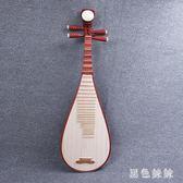 夏季新款民族樂器紅木琵琶花梨木兒童成人學生練習琵琶 aj6804『黑色妹妹』