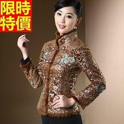 唐裝上衣-保暖修身復古冬裝毛呢女中式禮服2色66ac18【時尚巴黎】