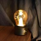 北歐復古小夜燈創意簡約臥室ins網紅氛圍裝飾床頭USB充電台燈禮物 「ATF夢幻小鎮」