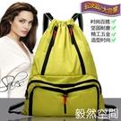 束口包抽繩後背包旅行大容量女輕便健身束口包折疊袋大收納包袋運動背包 快速