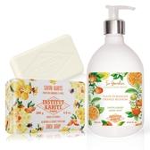 IKP巴黎乳油木 橙花花園香氛液體皂(500ml)+杏仁蜂蜜手工皂(200g)