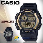 CASIO 卡西歐 手錶專賣店 國隆 AE-1400WH-9A 電子男錶 樹脂錶帶 深灰X金色錶面 防水100米 AE-1400WH