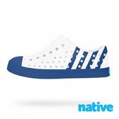 native 小童鞋 JEFFERSON 小奶油頭鞋-維多利亞藍 x 白