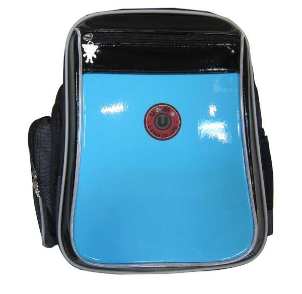~雪黛屋~UNME 書包符合人體工學護脊止滑保護可放A4資料夾二層拉鍊主袋台灣製造中高年級適用U3204