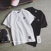 情侶裝夏裝白色短袖T恤女衣服 春裝2019新款韓版學生寬鬆半袖夏季 嬌糖小屋