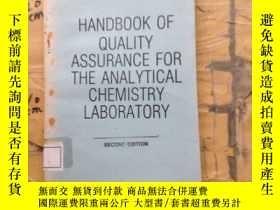 二手書博民逛書店HANDBOOK罕見OF QUALITY ASSURANCE FOR THE ANALYTICAL CHEMIST