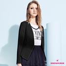 【SHOWCASE】無領立體腰身優雅西裝外套(黑色)
