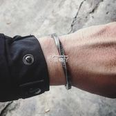 手環手鐲 歐美風復古螺旋字母開口男女 NEVER GIVE UP勵志能量情侶手環 俏腳丫