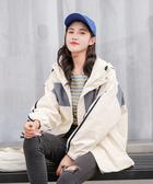韓系女裝 拼色雙條紋袖連帽外套 2色售【C0648】韓妞穿搭必備 阿華有事嗎