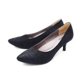 【南紡購物中心】W&M (女)尖頭細跟包鞋 高跟鞋 女鞋 -黑