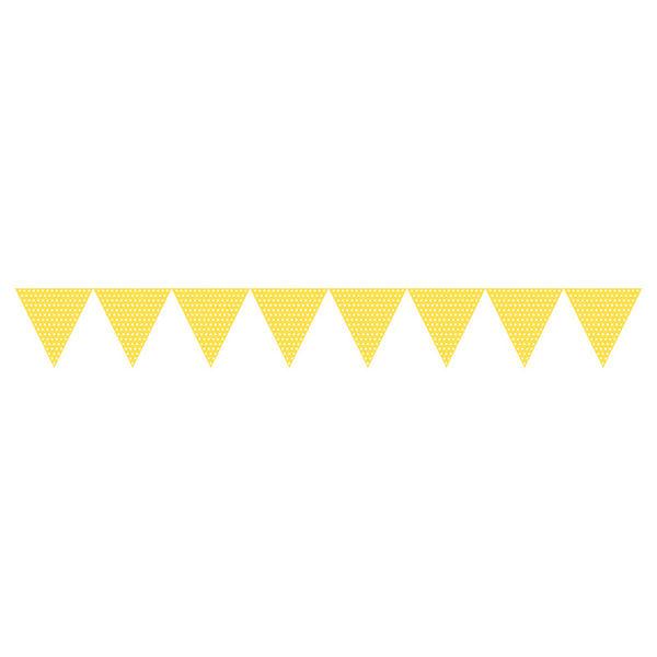 三角旗-點點日光黃