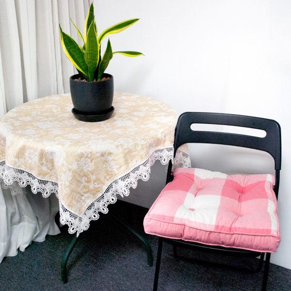【LASSLEY】英格座墊-胖胖墊 (純棉 立體 坐墊 方形墊 方墊)