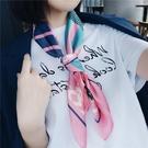 絲巾小方巾女韓國百搭文藝裝飾復古chic領巾職業圍巾 黛尼時尚精品