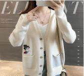 針織衫外套 網紅毛衣外套女秋裝新款韓版女裝短款長袖超火寬鬆針織小開衫 coco衣巷