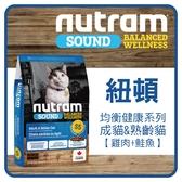 【力奇】Nutram 紐頓 貓糧-均衡健康系列-S5成/熟齡貓-雞肉+鮭魚5.4kg 不可超取 (A092D24-054)