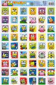 大眼蛙郵票格子貼紙/三麗鷗貼紙 [CL5] - 大番薯批發網