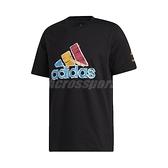adidas 短袖T恤 Donovan x Crayola Logo Tee 黑 彩色 男款 短T 蠟筆 米邱 運動休閒 【ACS】 GN7912