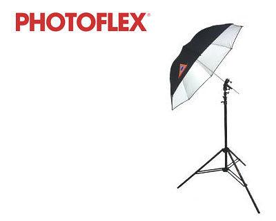 PhotoFlex 30吋 透射反射兩用傘 附閃光燈燈架轉接頭 (24期0利率 免運 正成貿易公司貨) RUT UMBRELLA KIT