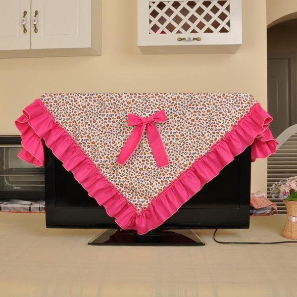 [超豐國際]棉布 大蝴蝶結 電視機罩 液晶電視機蓋巾