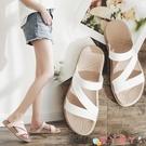 沙灘鞋 拖鞋女外穿時尚夏海邊沙灘鞋防滑外出穆勒鞋網紅潮涼拖鞋百搭 愛丫 新品