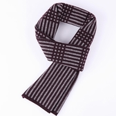 羊毛圍巾-條紋拼色針織提花男披肩3色73wh71【時尚巴黎】