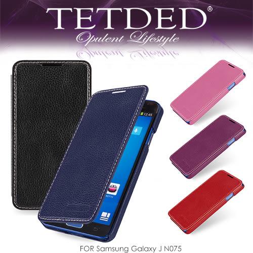 【愛瘋潮】TETDED 法國精品 Samsung Galaxy J N075 Dijon II 超薄頂級牛皮側翻皮套