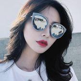 2018復古圓形偏光太陽鏡女黑超墨鏡旅游防紫外線眼鏡沙灘遮陽鏡潮  百搭潮品