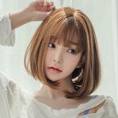 假髮女短髮韓國空氣劉海奶奶灰bobo頭套蓬鬆修臉梨花頭內扣捲髮套