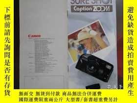 二手書博民逛書店Canon罕見SURE SHOT Caption ZOOM佳能電子照相機產品樣本 1989年 36開15頁 英文版