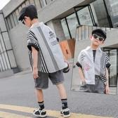 男童襯衫夏裝2020新款韓版洋氣兒童上衣中大童男孩帥氣時髦潮童裝