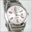 【萬年鐘錶】SIGMA日系 紅字時尚女錶 88023L-4