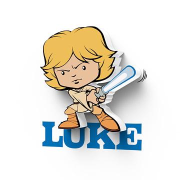 萬聖節~星際大戰七部曲 原力覺醒 3D造型迷你夜燈--Luke天行者--  (加拿大原裝進口)/3D LIGHT FX出品