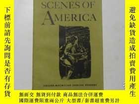 二手書博民逛書店SCENES罕見OF AMERICA 美國風光 f1-4Y225
